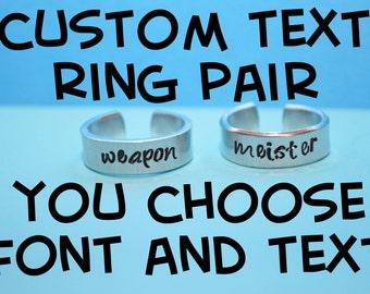 Custom Adjustable  Aluminum Ring PAIR