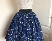 Constellations skater style skirt