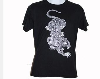 Tiger digital print t shirt