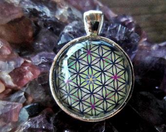 Flower of Life Sacred Geometry Pendant