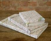 Handmade Vintage Map Journals, Sketchbooks, & Notebooks
