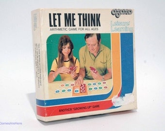 Let Me Think Arithmetic Card Game from Leisure Learning Vintage