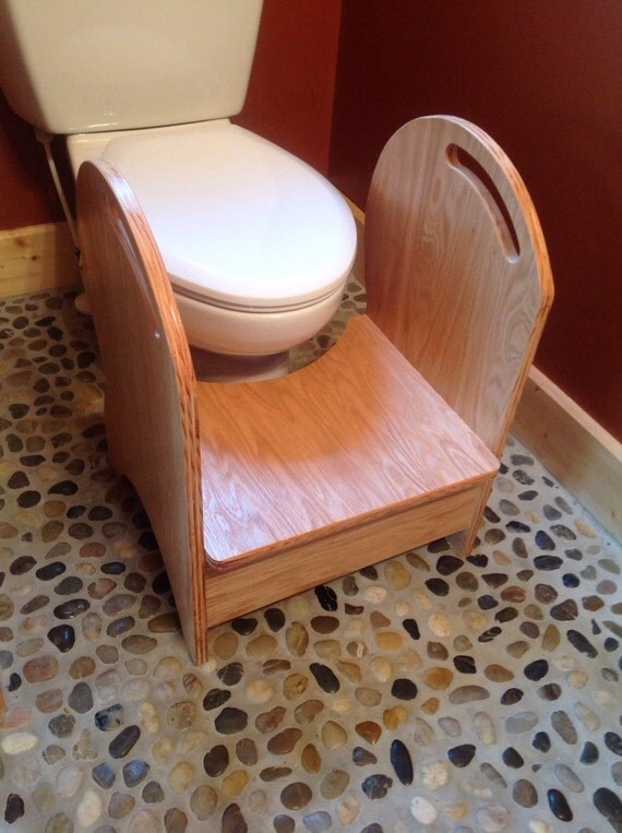 Deluxe Potty Step Stool Oak Natural Finish Reserved By