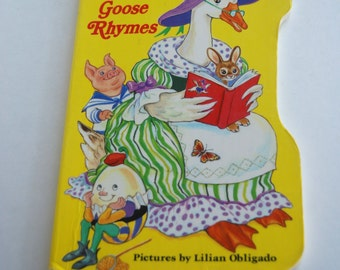 Vintage Children's Book, Mother Goose Rhymes