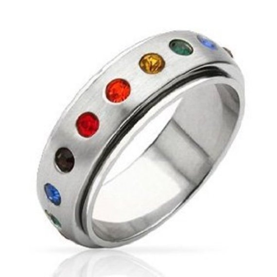 rainbow ring lgbt pride miniature - photo #7
