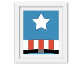 Super Hero Digital Prints/ Avengers/ Captain America/ Ironman/ Hulk/ Thor/ wall art