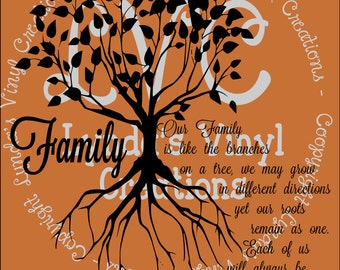 Our Family Tree SVG/Silhouette  digital download cut file