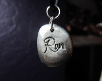 Pewter RUN Necklace