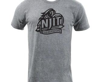 NJIT Distressed Primary - Athletic Grey