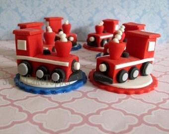 Choo Choo Train 3D Cupcake Topper - 6 Pcs