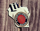 Upcycled Vintage Miller Lite Retro Throwback Beer Can State of Wisconsin or Mississippi Ornament or Magnet
