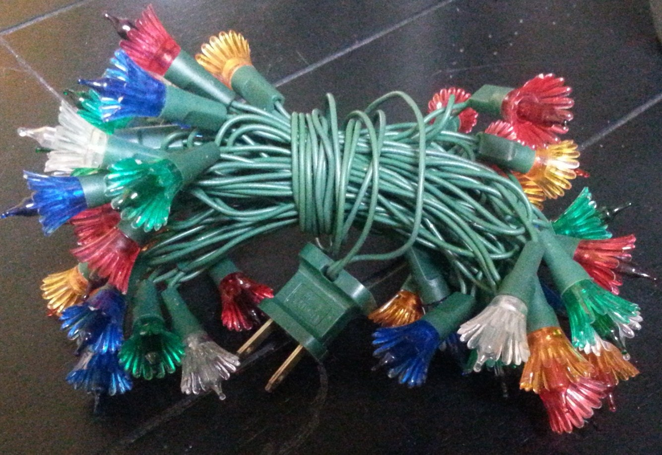 Vintage 1960's or 1970's mini Christmas tree lights