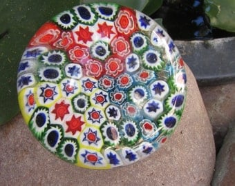 Vienitian Glass Millefiori Paper Weight