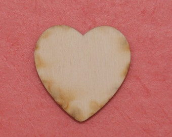 Unfinished wood shape Heart