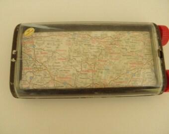 Vintage East Coast Travel Map on Rollers