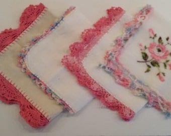 Hankies with Crochet Edges B
