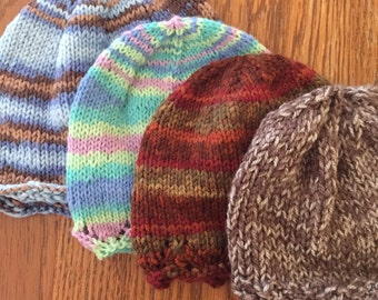 Knit Baby/Toddler Hats
