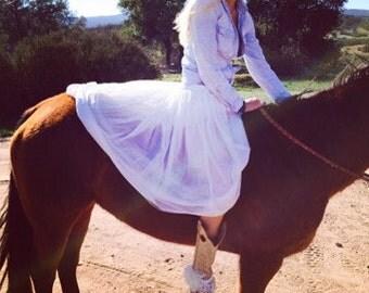 White 5 layer tulle skirt