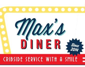 Soda Shop Retro 50s Diner Birthday Sign / 20x30 / Personalized / PRINTABLE / Digital File
