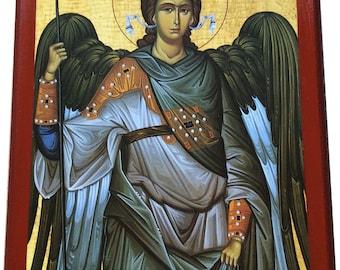 Archangel Michael - Orthodox Byzantine Large icon on wood (29cm x 22cm)