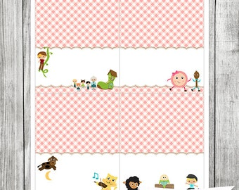 Nursery Rhyme Food Tent Labels - Food Cards - Food Card Tent Labels (INSTANT DOWNLOAD)