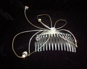 Beautiful Handmade Vintage Butterfly bridal head comb / Vintage Bridal butterfly fascinator
