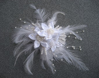 Wedding Hair Piece / Feather Hair Piece