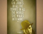 "CASABLANCA ""Gin Joints"" Quote Poster"