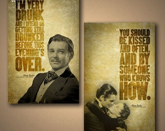 Gone With The Wind RHETT BUTLER Combo Pack Quote Posters - Free Shipping*