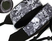 Skull Camera Strap. Padded Camera Strap. Halloween Camera Strap. Dslr Camera Strap. Accessories
