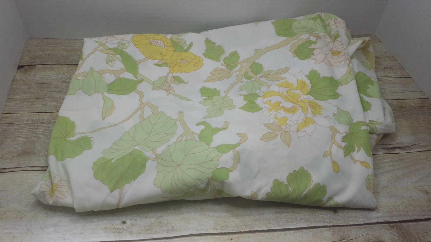 Literie double drap housse des ann es 1970 vintage literie for Drap housse traduction