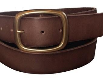 Dark Brown Heavy Duty Leather Belt - SALE - 32 34 36 38 S M L Xl - Men's Women's Gift Idea - Deal