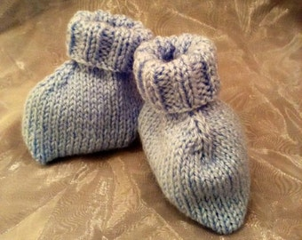 Cute Little Knitted Baby Booties