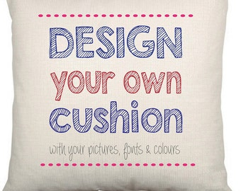 Personalised Cushion Cover - Design your own