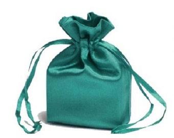 Large Sea Blue Satin Gift Bag
