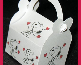 Snoopy Valentine Favor Boxes, Snoopy Valentine Party Supplies, Snoopy Cupid Favor Boxes