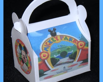 Mickey Club House Favor Boxes, Mickey Club House Birthday favor boxes,   Mickey club house shower boxes