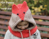 Sly Fox Cowl Knitting Pattern (Sizes: Baby through Adult) - English, French, Russian