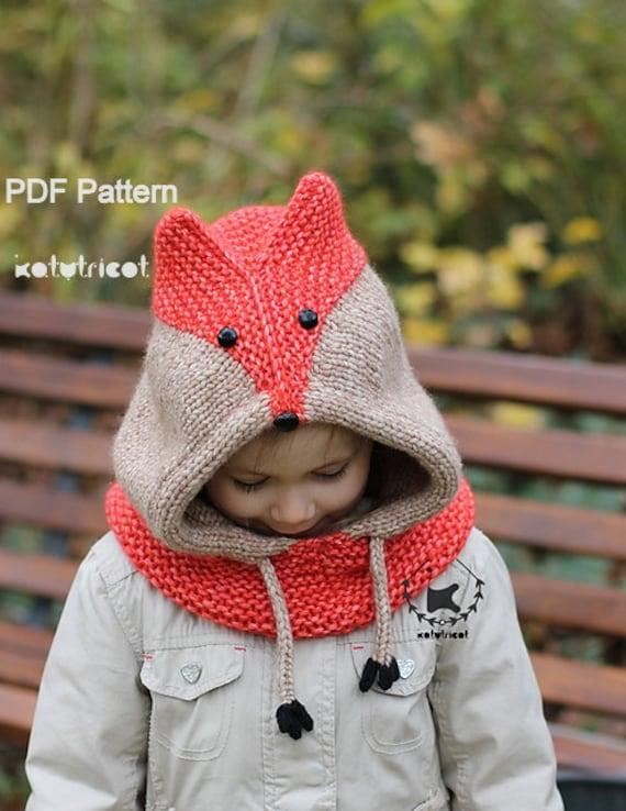 Knitting Pattern Fox Hood : Sly Fox Cowl Knitting Pattern Sizes: Baby through Adult