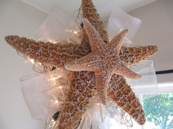 Starfish Tree Topper Lighted Christmas Tree by ...