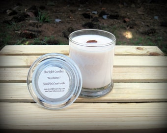12oz Wood Wick Soy Candle - Wedding Soy Candle - Status Jar Candle