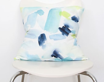 Turquoise Splash- Throw Pillow