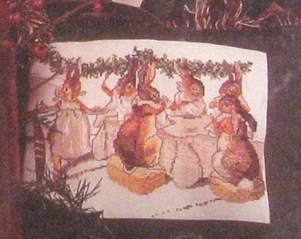 beatrix potter  christmas cross stitch CHART INSTRUCTIONS ONLY christmas  dinner is served