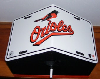 Baltimore Orioles License Plate Birdhouse/Fathers Day Gift, Sports, MLB, Baseball, Birthday, Mothers Day, Christmas Gift