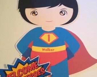 Super Hero Door Sign or Wall Hanger