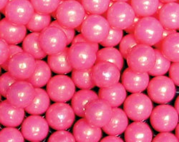 Pink Pearl Candy Beads Edible Cupcake Decorations (2 ounces)