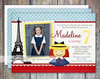 Madeline Inspired Birthday Invitation