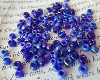 Beads, Purple, Iridescent, Round, Donut, 3mm, Jewelry Making. Filler, Spacer, Accent, Craft Supplies, Destash