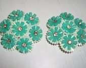 Going out of Business Was 15 Now 5 Fab Rockabilly Mint Floral Clip Ons BRY0058