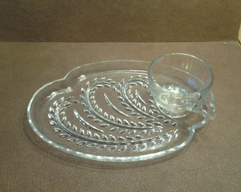 On Sale Collectible Federal Glass Homestead Snack Set with Wheat Design Replacement Dishes